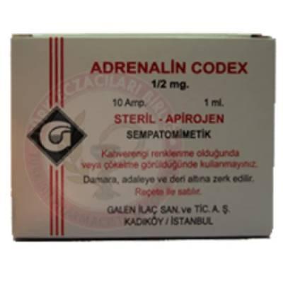 ADRENALIN COD.GALEN 0,5 MG 10 AMPUL