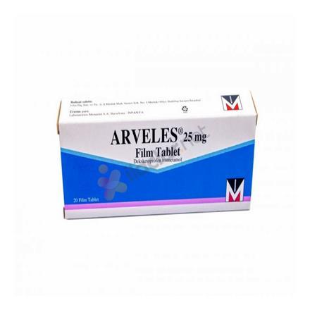ARVELES 25 mg 20 film tablet