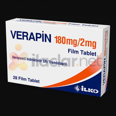 VERAPIN 180/2 MG 28 FILM TABLET